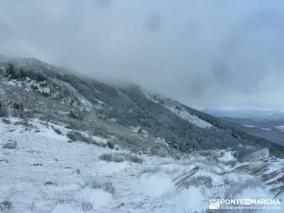 El Porrejón y Peña La Cabra; viajes aventura; nieve madrid;agencias de viajes para grupos
